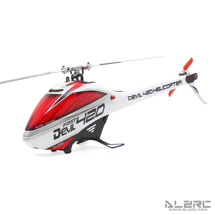 ALZRC Devil 420 FAST FBL Supper Combo 3-Axis Gyro RC Helicopter 3D with Brushless ESC & 1000kv Motor/DM1232S Servos r b parker s the devil wins