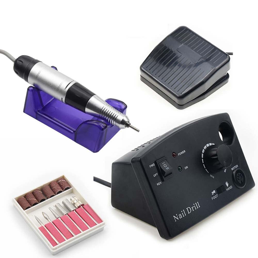 35000RPM Nail Drill Manicure Machine For Nail Manicure Pedicure Equipment Electric Nail File Tools Drill Polish Bits Tools Kits