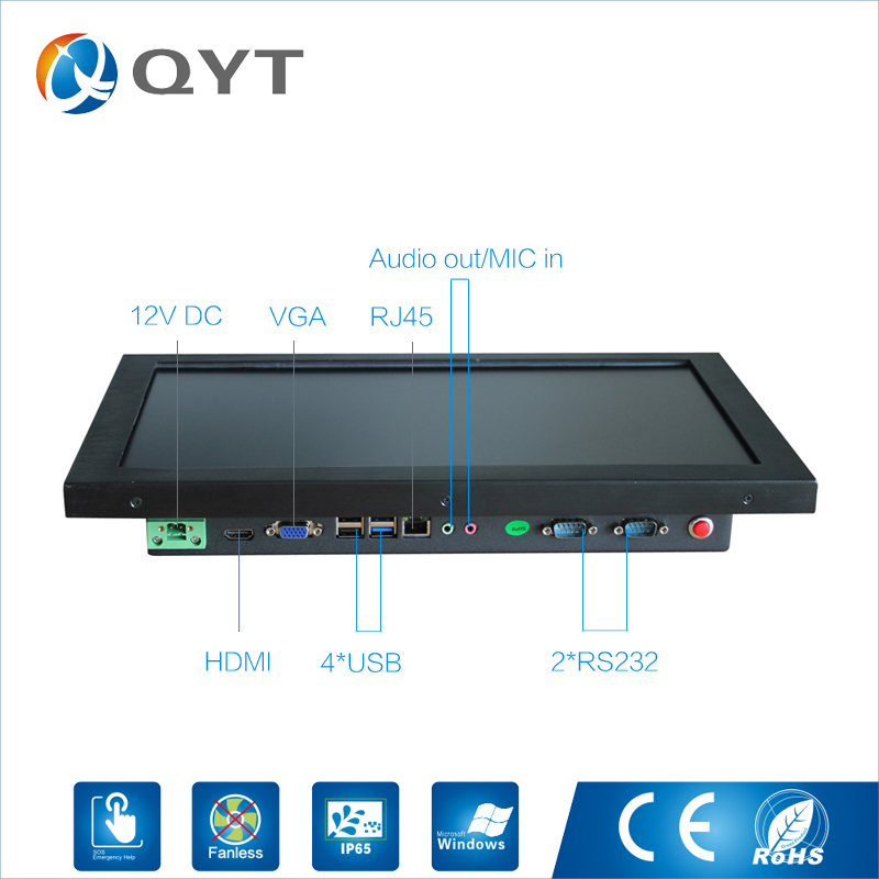 Image 5 - 15.6 inch all in one pc / J1900 2.0GHz/128G SSD 4GB RAM Resistive Touch Screen 1366x768 Industrial Computer Embedded Led PC-in Mini PC from Computer & Office