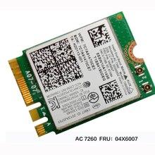 Intel Dual Band wireless-AC 7260 WiFi+ BT 4,0 Combo card для lenovo Thinkpad Y40 Y50 X240 T440 Series, FRU 04X6007 20200552