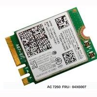 Intel Dual Band Wireless AC 7260 WiFi+BT 4.0 Combo card For Lenovo Thinkpad Y40 Y50 X240 T440 Series ,FRU 04X6007 20200552