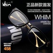 WHIM Ultra Light Eyeglass Frame Neutral Retro Myopia Frame Glasses Titanium Temple Acetate Glasses