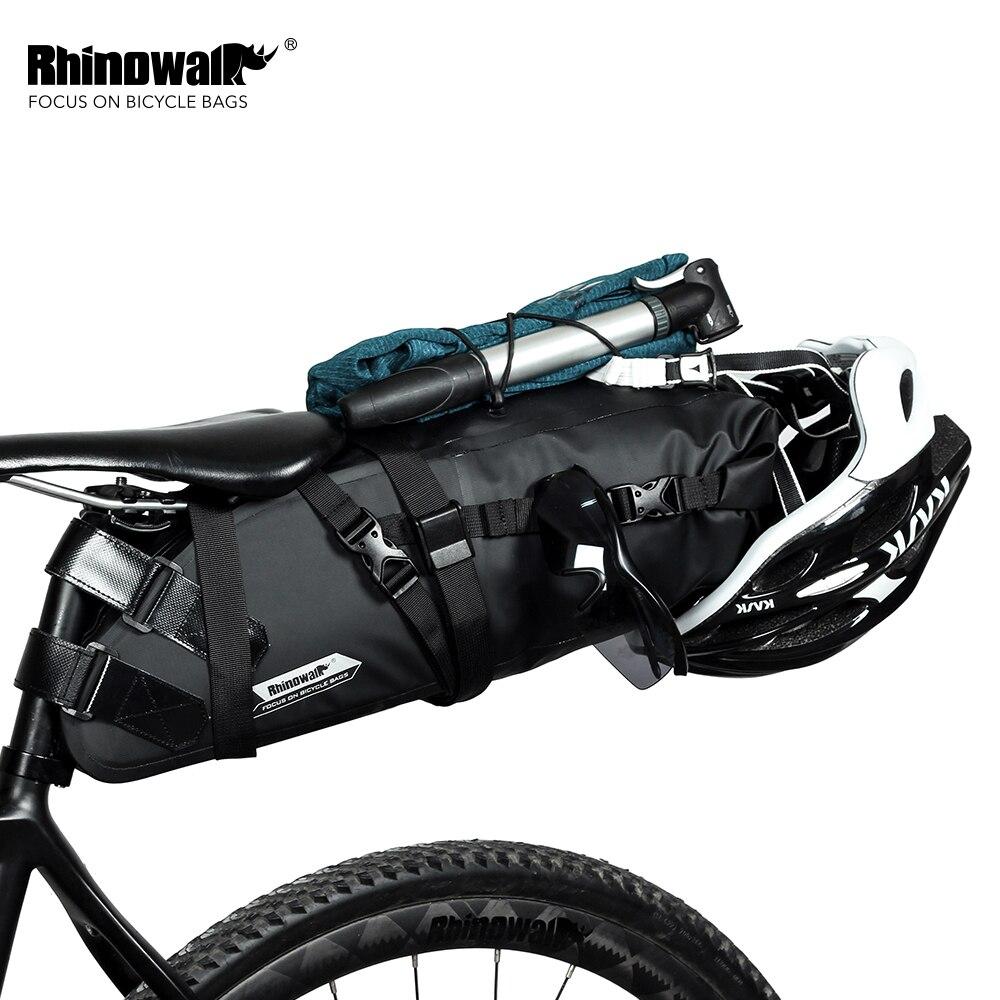 RHINOWALK 2019 最新 10L 100% 防水自転車バッグ自転車バッグサイクリングマウンテンバイク後部座席リアバッグ自転車アクセサリー  グループ上の スポーツ & エンターテイメント からの 自転車用バッグ & パニア の中 1