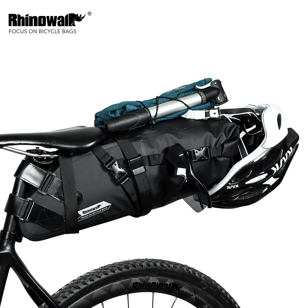 RHINOWALK 2020 Newest 10L 100% Waterproof Bike Bag Bicycle Saddle Bag Cycling Mountain Bike Back Seat Rear Bag Bike Accessories