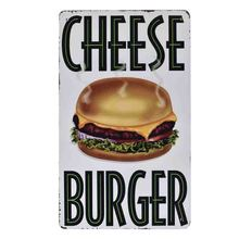 YVEVON Retro Burger Metal Sign Movie Wall Decoration Tin Sign Vintage Signs Home Decor Painting Plaques Art Poster 20x30cm