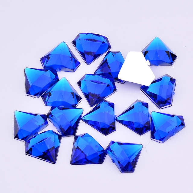 placeholder JUNAO 10 12mm Mix Color Crystals Flat Back Acrylic Rhinestone  Glue On Crystal Stones Non f38d36a2ca99