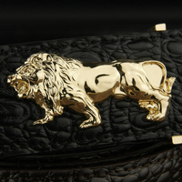 K Lion Individual Buckle 3 8cm Wide High Quality Mens Belts Genuine Leather Luxury Brand Fashion