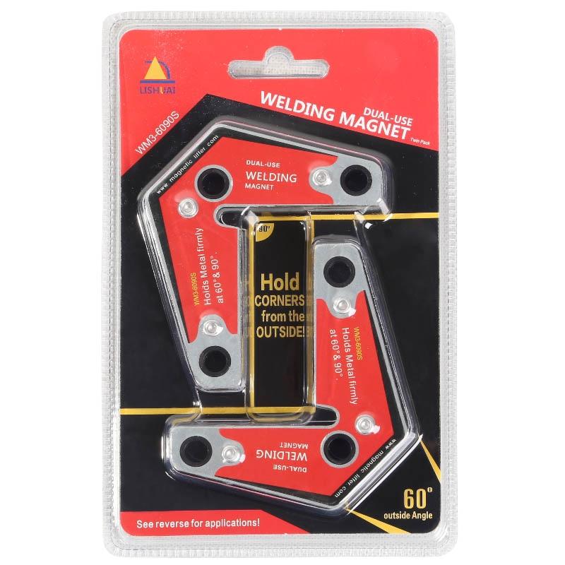 Lishuai Forte Saldatura D'angolo Magnete/Supporto Magnetico in Neodimio Twin Pack