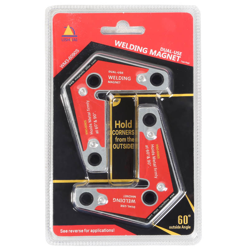 Lishuai Strong Welding Corner Magnet/Neodymium Magnetic Holder Twin Pack