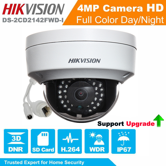 Hikvision Network Mini Dome Camera 4MP DS-2CD2142FWD-I EXIR Turret Network Camera CCTV camera POE IP67 Support Upgrade hikvision cctv poe 4mp camera ds 2cd3345 i hd night version onvif exir turret wdr dome ip security camera replace ds 2cd2345 i
