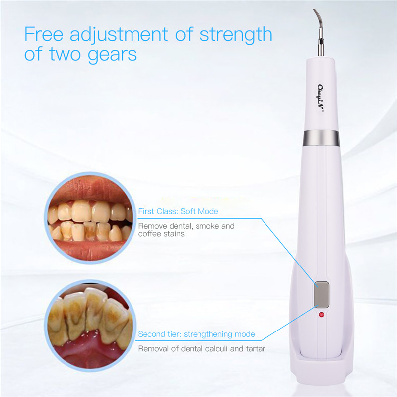 Electric Dental Calculus Plaque Smoke Stains Remover High Frequency Vibration Sonic Tartar Removal Cleaning Tool Teeth Whitening