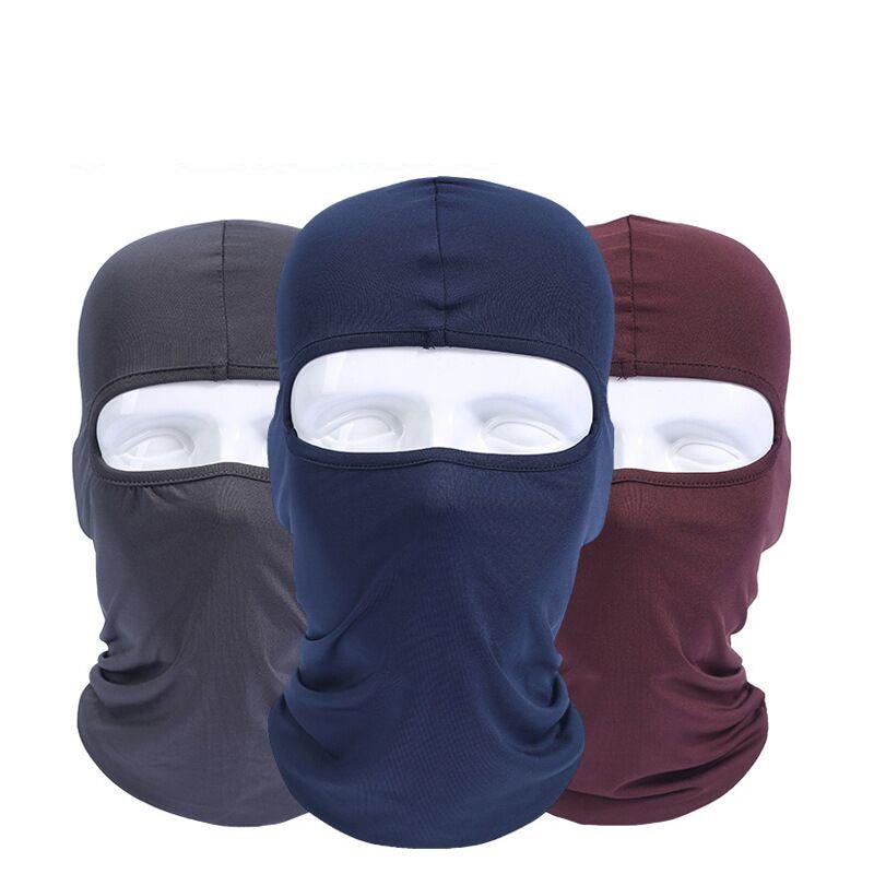 2017 Lycra Men Headwear sport Ski Balaclava Mask Helmet ear Cap Motorcycle Masks women hat beanies neck cover Face protection