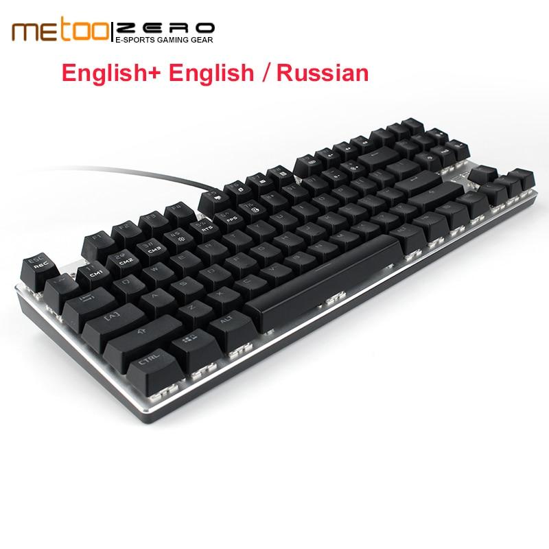 Metoo ZERO 104 84 keys gaming keyboard wired mechanical keyboard Blue/Black/Red switch RGB backlit conflict-free N key rollover genius k7 usb wired blue red led backlit 104 key keyboard