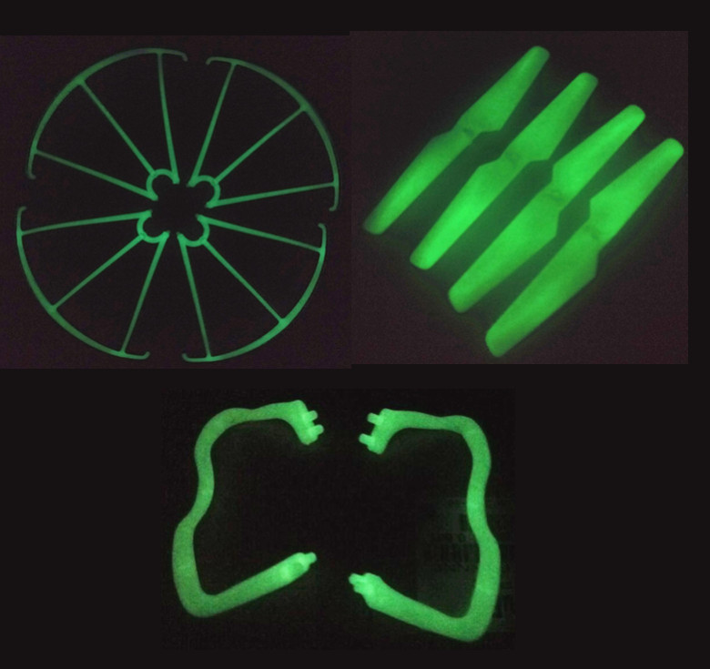 Luminous Quadcopter Kits Set Include Blades Landing Gear Propellers Protection For Syma X5c X5 Rc font