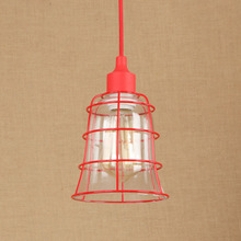 Nordic Modern Simple Glass Iron Red Pendent Light Cafe Living Room Decoration Lamp E27 Small Restaurant Single Head Chandelier nordic personality restaurant chandelier living room bedroom cafe bar decoration lamp round glass single head lamp free shipping