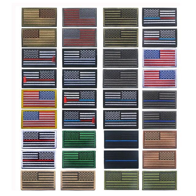 Fahnen Patch Badges Army wählbar Flag Amerika Kutte Neu Aufnäher FLAGGE USA