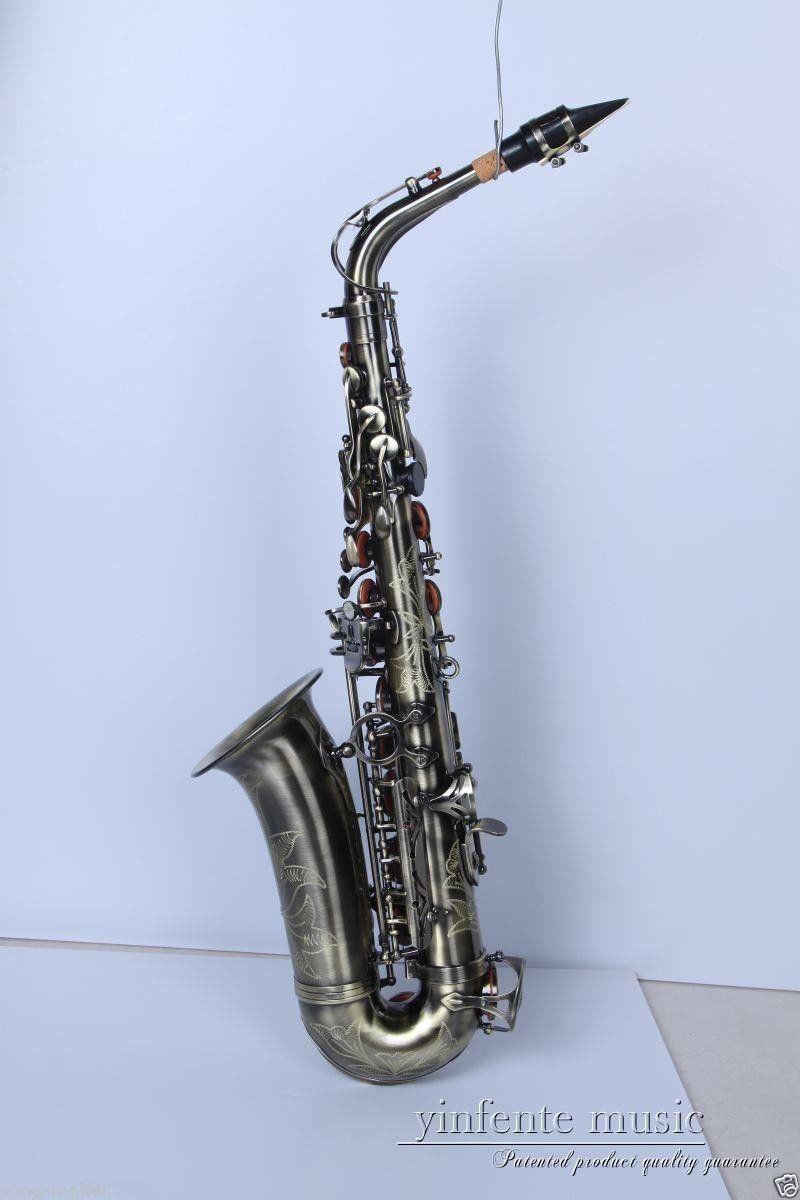 New Alto Sax Saxophone Antique High Quality Low Price Inlaid Pattern
