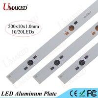 500mm lamba plaka 10/20 leds LED alüminyum levha 1 W 3 W 5 W Için yüksek Güç doide yüklemek LED PCB Kurulu Akvaryum tüp işıklar Büyütün DIY
