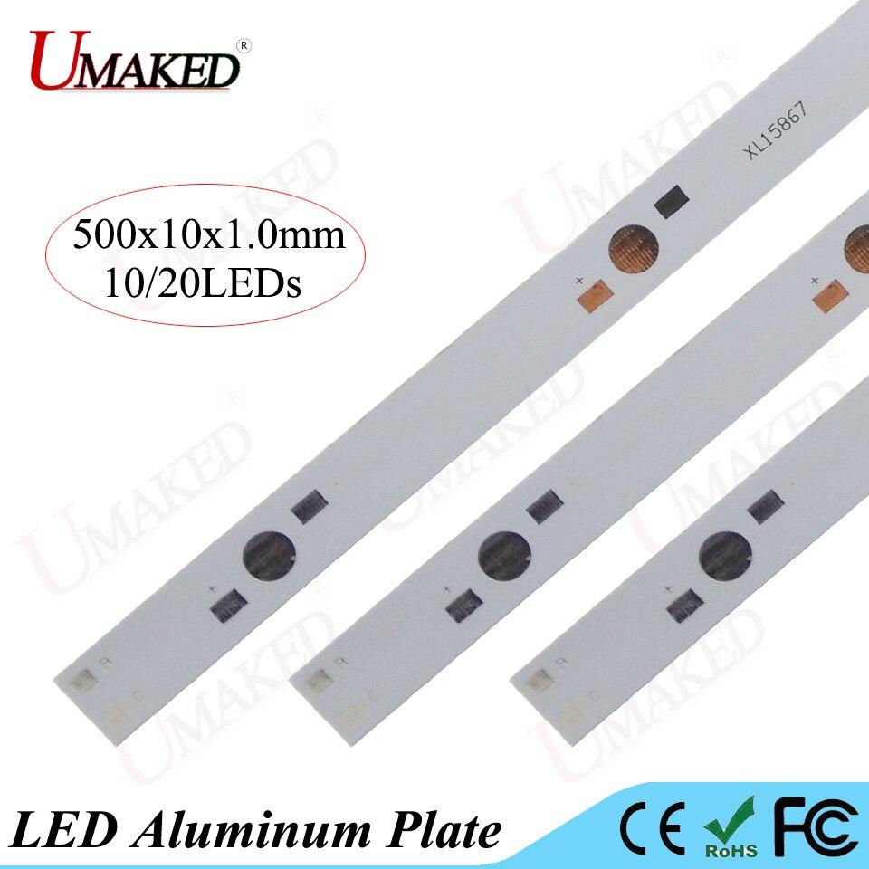 500mm lampe platte 10/20 leds LED aluminiumplatte Für 1 Watt 3 Watt ...