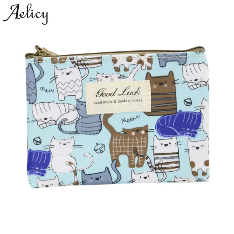Aelicy New Vintage Wallet Printing Purse Wallets Small Purse for Coins Key Bag Mini Zipper Money Bag Luxury Card Holder Women