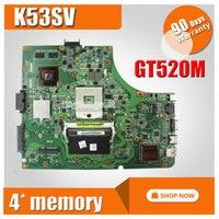 Para ASUS K53SV Laptop motherboard P53SJ K53SV k53S X53SV A53S Mainboard N12P-GS-A1 REV 3,1/3,0 HM65 1g GT520M mainboard