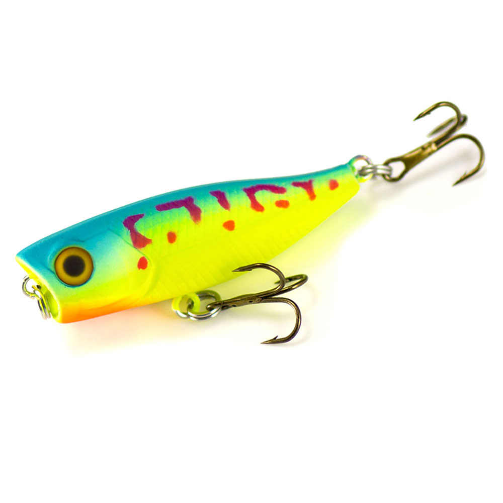 1 pc Countbass 42mm 3.5g Pescador Topwater Fishing Lure Iscas Wobblers Flutuantes Popper Superfície Plug Baixo Trout pike Leurre