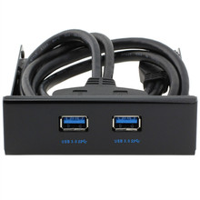 Надежный Super Speed USB 3.0 3.5 дюймов Передней Панели с 2 USB 3.0 Порта Концентратора 20 Контактный Разъем и 2я Адаптер Cabl