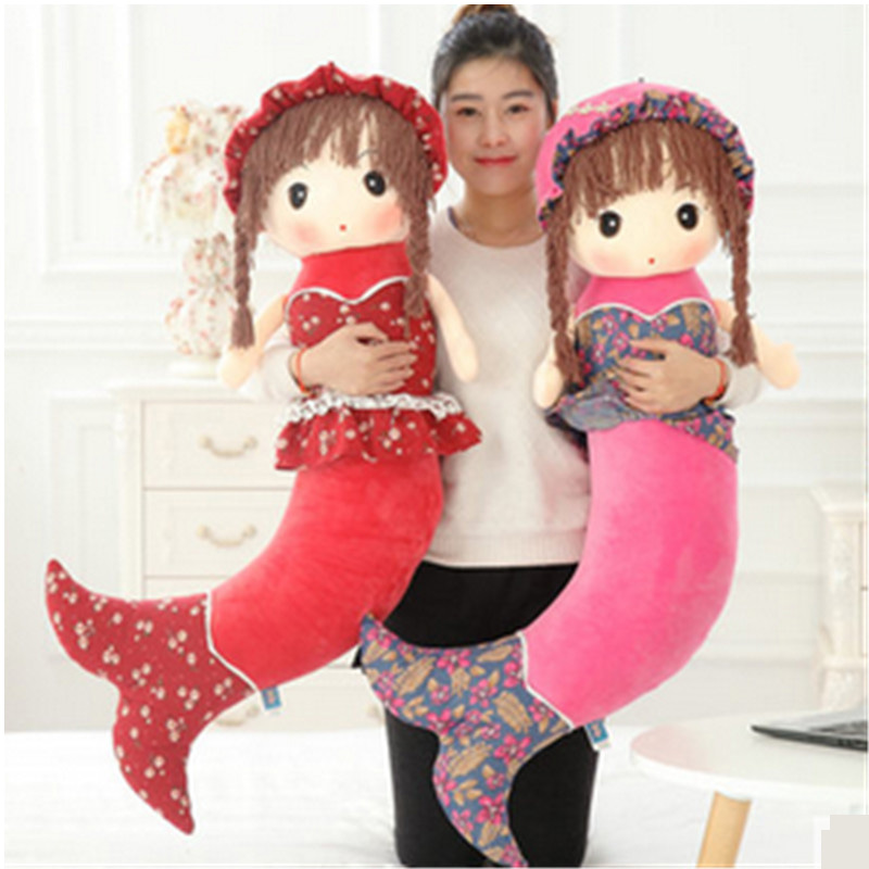 Fancytrader Stuffed Little Mermaid Toys for Girls the Beautiful Fish Plush Dolls Xmas Birthday Gifts 38cm plush whales toys with soft pp cotton creative stuffed animal dolls cute whales toys fish birthday gift for children