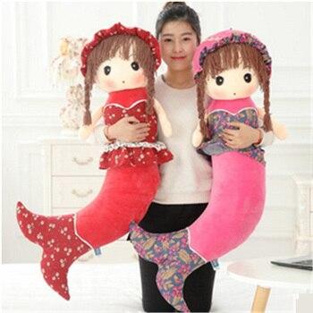 Fancytrader Stuffed Little Mermaid Toys for Girls the Beautiful Fish Plush Dolls Xmas Birthday Gifts