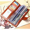 Men&Women Credit Card Holder/Case card holder wallet Business Card Package Whole Genuine Leather Bag 57 cards Free Shipping