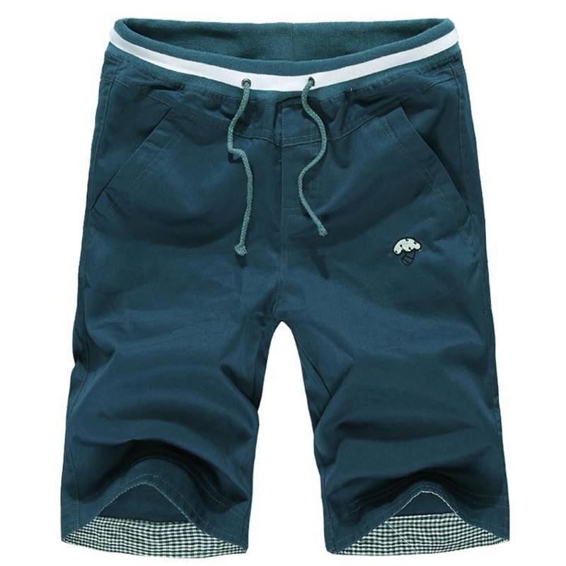 2016 verano Top Venta de verano de los hombres de algodón casual Pantalones  cortos rodilla Pantalones cortos tamaño 28-33 812f95aca72