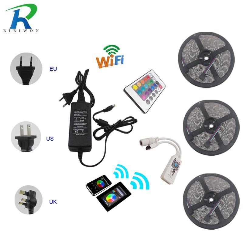 RiRi won SMD 5050 RGB LED Strip Licht geen Waterdichte 30LED 15 M - LED-Verlichting