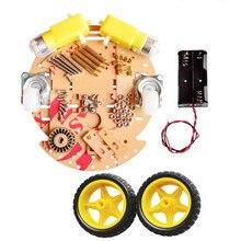 DIY Ronda de Dos Pisos de Dos Ruedas Motrices Robot Elegante Chasis Car Kit Para Arduino