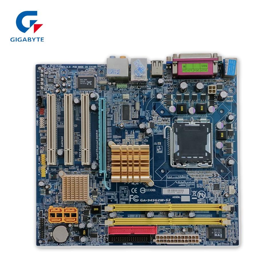 Gigabyte GA-945GZM-S2 Original Used Desktop Motherboard 945GZM-S2 945GZ Socket LGA 775 DDR2 Micro-ATX On Sale  original motherboard for gigabyte ga 945gcm s2 lga 775 ddr2945gcm s2 945gc desktop motherboard free shipping