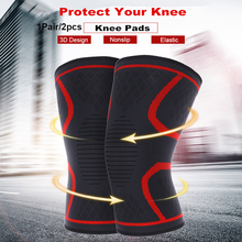 2pcs Fitness Running Cycling Knee Support Braces Elastic Nylon Sport Compression Breathable Bandage Knee Pads Basketball Sleeve pressurized fitness running cycling knee support braces elastic nylon knee pads nylon silk sports protective gear knee pads back