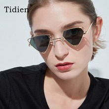 Tidien Retro Vintage Metal Triangle Sunglasses Women Fashion Plastic Travel Shopping Ladies Spectacles D215