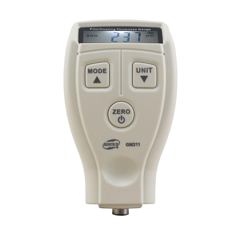 Digital BENETECH GM210 0 1800um Mini Paint film iron base thickness gauge Galvanized thickness measurement