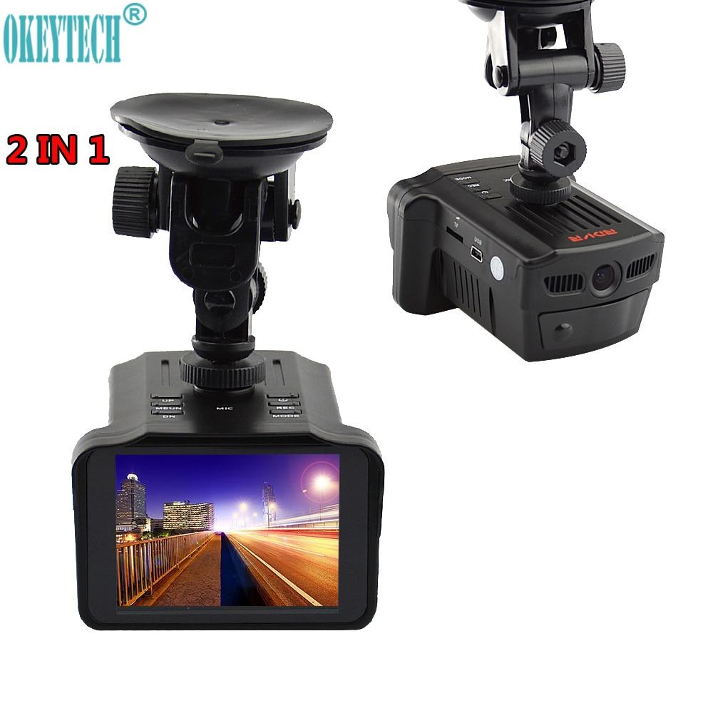 OkeyTech Beste 2 in 1 Camera 720 P Laser Radar Signaal Detectie Nachtzicht Dash Cam DVRs Auto Detector
