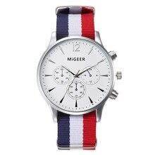 Wonderful High quality 2016 Watches Males Ladies Wristwatch Watch Nylon Material Canvas Informal Watch Tremendous Skinny Present Watch Army Clock