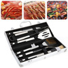 BBQ Grill Stainless Steel Barbecue Set With Storage Case Outdoor Barbecue Tool Combination 6PCS Set
