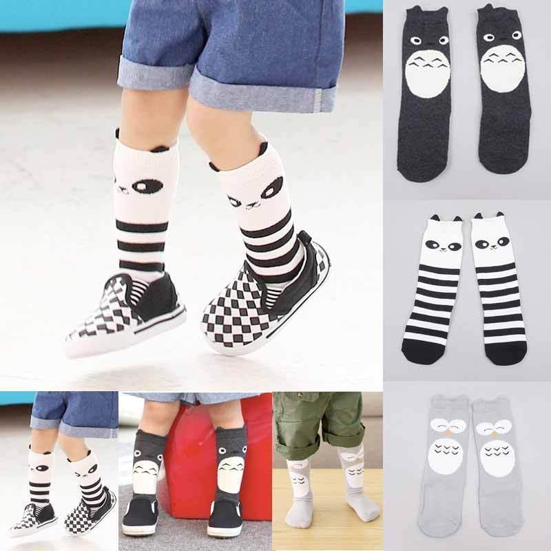 Cute Baby Kids Stockings Toddlers Owl Cartoon Pattern Cotton Stockings Girls Knee High Socks Tights Leg Warmer Stockings