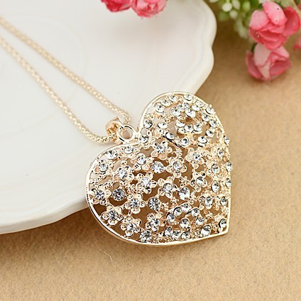CXL090 Bling Bridal Wedding Jewelry SetsCouple Rose Love Heart