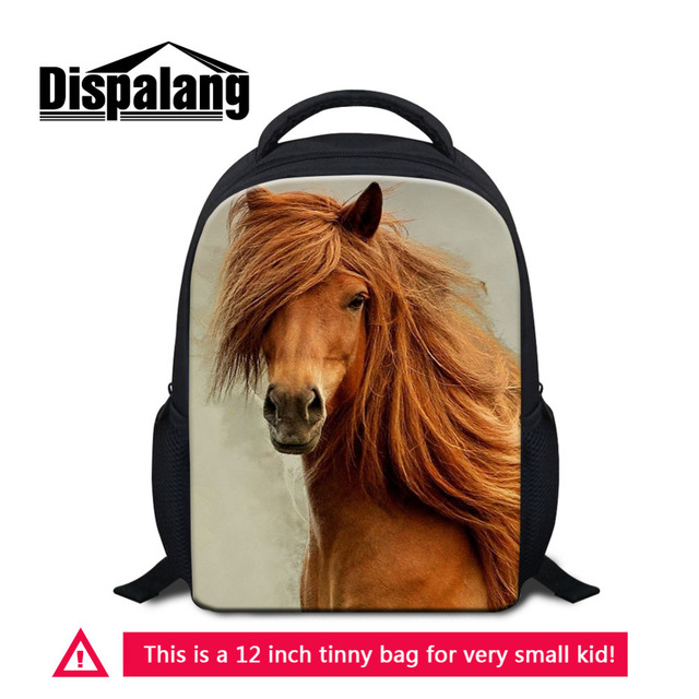 9c1e6f8e50a9 Dispalang Horse Print Mini Backpack For Girls 12 Inch Small Kindergarten  School Bag Mochila Kids Shoulder Bags Child Rucksack-in School Bags from  Luggage ...