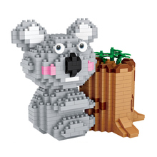 цена на LOZ Diamond Blocks Koala Cute Animal Micro Building Brick Blocks Creative Pen Holder Toy Children's Gift DIY 9212