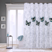 цена на Elegant Butterfly Waterproof Polyester Shower Curtain Thick Washable Bathroom Curtains Mildew Resistant Quality Bath Curtain