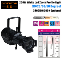 Free Shipping One Sample Led Profile 150W White Color LUMINUS Ellipsoidal Gobo Projector Light Led Spot