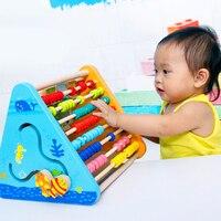 מסגרת מחקר חינוך מוקדם צעצוע חינוכי לילדים צעצועי עץ מסגרת לחשב זיווג היפוך מכתב ומספר