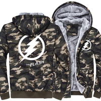 The Fashion Sheldon Cooper Flash Thick Jacket Homme Hoodies Army Ggreen Camouflagethe Jacket Men The Big