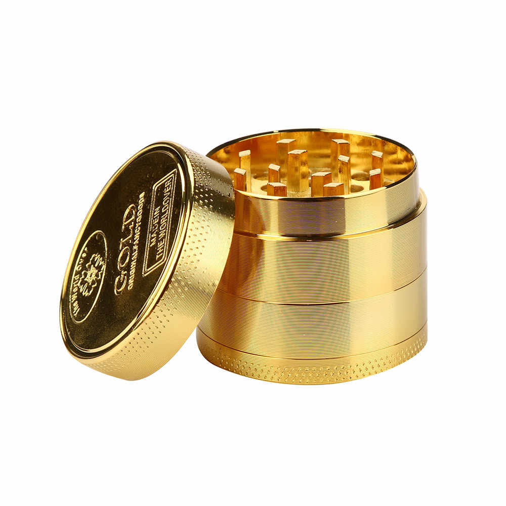 Alloy Herbal Herb Tobacco Herb Spice Grinder Herbal Alloy Smoke Metal Crusher Smoking Pipe Accessories Gold Smoke Cutter