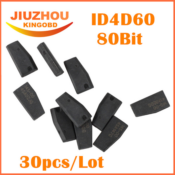 30pcs Lot 100 New Original Quality A Car Key Chips Ceramic 80 BIT ID 4D 60
